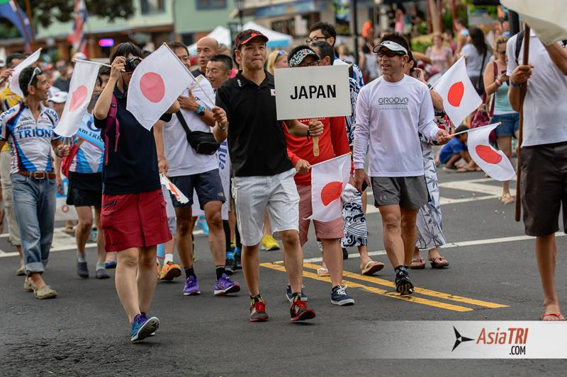 Japan had the largest number of athletes from any Asian country