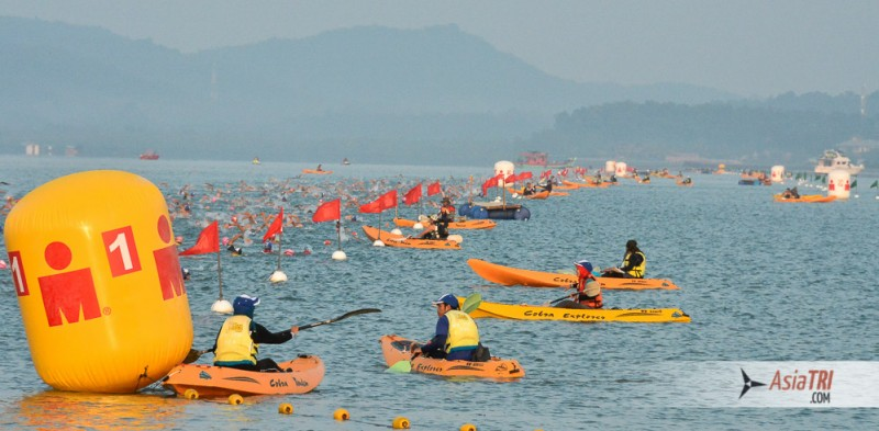 The rolling start swim changes the strategy of your training and race as there is little strategy involved, its a pure Time Trial at an even pace